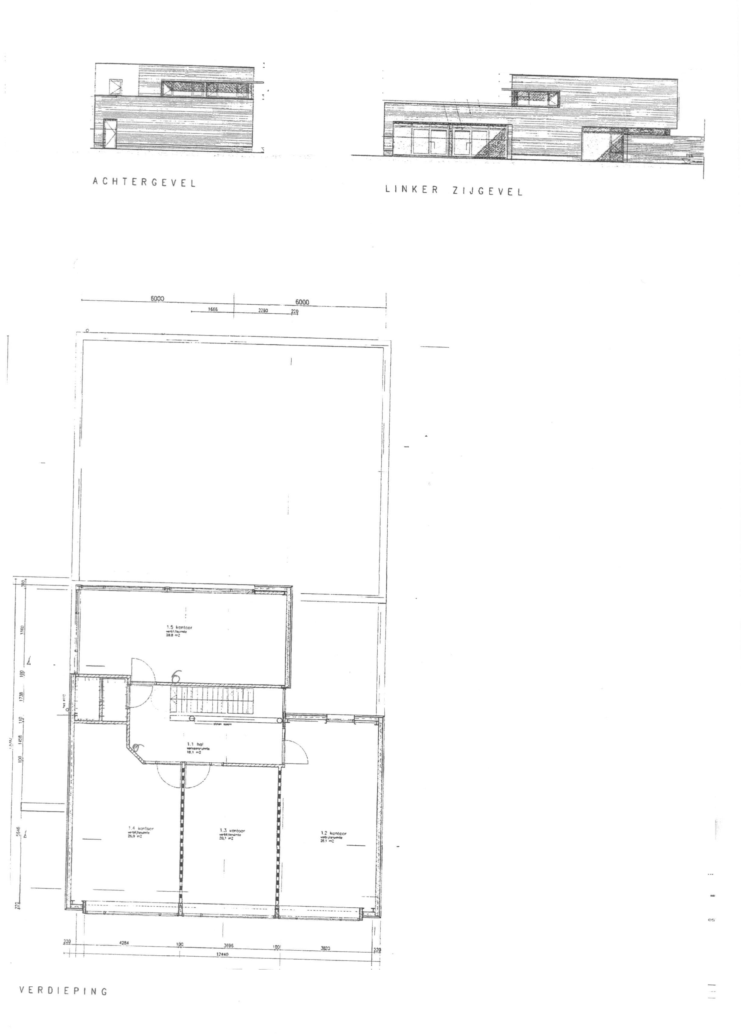 Kantoor/bedrijfsruimte 1ste verdieping